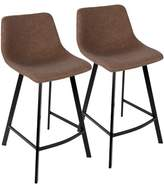 Lumisource Outlaw Industrial 26 In Counter Stool (Set of 2)