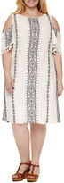 Studio 1 Short Sleeve Embroidered Sheath Dress-Plus