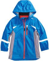 London Fog Hooded Colorblocked Windbreaker Jacket, Little Boys