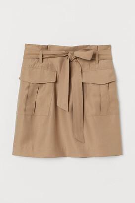 H&M Lyocell-blend paper bag skirt