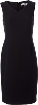 Kasper Women's Petite V-Neck Sleeveless Sheath Dress