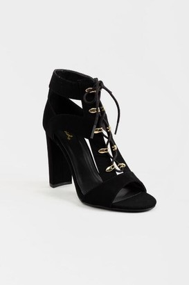 francesca's Brianna Caged Heels - Black
