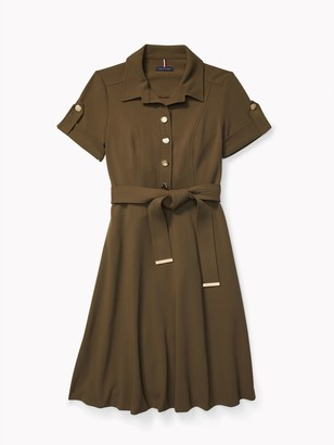 Tommy Hilfiger Essential Ponte Camp Shirtdress