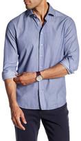Toscano Long Sleeve Regular Fit Dobby Shirt