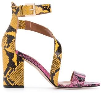 Paris Texas contrast open-toe sandals