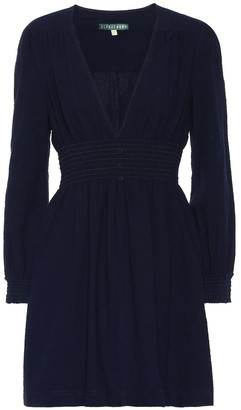 ALEXACHUNG Smocked cotton dress
