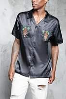 Forever 21 Tiger Satin Shirt