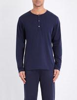 Sunspel Henley pima-cotton top