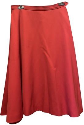 Saint Laurent Red Wool Skirt for Women Vintage