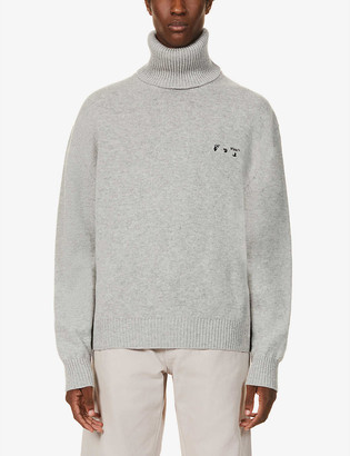 Off-White Turtleneck cashmere and wool-blend jumper