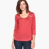 Anne Weyburn Braided T-Shirt with Pleated Back