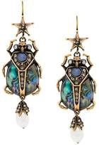 Alexander McQueen skull insect earrings