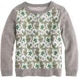 J.Crew Floral sweatshirt