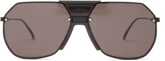 Bottega Veneta Aviator Metal Sunglasses - Black Grey