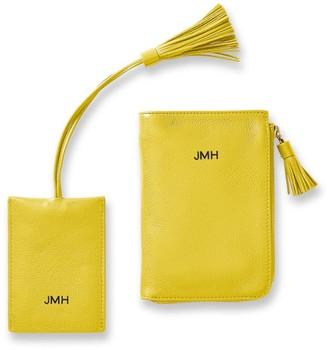 Leather Tassel Passport Wallet & Luggage Tag Set