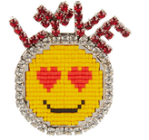 Shourouk Emojibling Love smiley face brooch