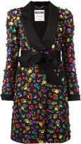 Moschino flower power coat - women - Cotton/Polyester/Rayon - 38