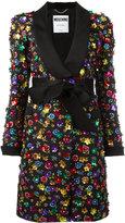 Moschino flower power coat - women - Cotton/Rayon/Polyester - 38