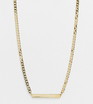 Orelia necklace in gold plate with flat curb bar