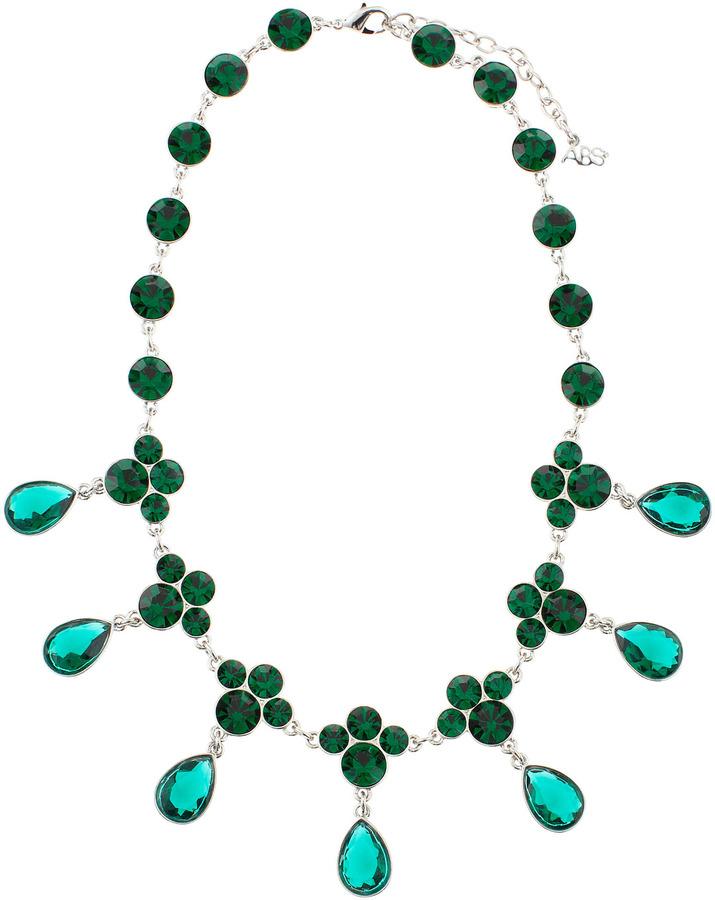ABS by Allen Schwartz A. B. S. Rhinestone Choker Necklace, Green