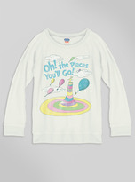 Junk Food Clothing Kids Girls Oh! The Place You'll Go! Sweater-sugar-xs