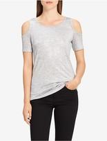 Calvin Klein Metallic Cold-Shoulder Top