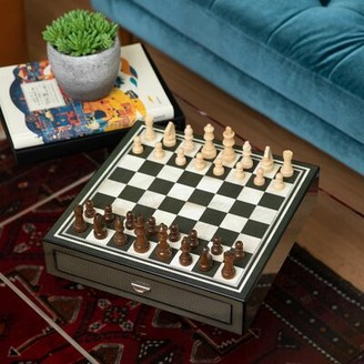Darby Home Co Dylon Black Chess Board Game