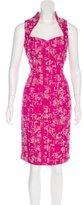 Badgley Mischka Sleeveless Bouclé Dress