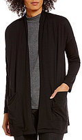 Eileen Fisher Long Sleeve Pocket Open Front Kimono Cardigan