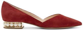 Nicholas Kirkwood Red Casati DOrsay Ballerina Flats