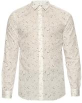 A.p.c. Speckled-print Button-cuff Cotton Shirt