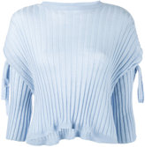 Helmut Lang cashmere ribbed tie sleeve sweater - women - Cashmere - M