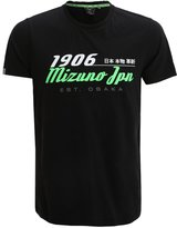 Mizuno Heritage Print Tshirt Black