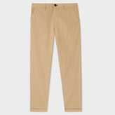 Paul Smith Men's Tapered-Fit Sand Garment-Dyed Pima-Cotton Stretch Chinos