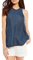 Daniel Cremieux Allie Chambray Sleeveless Blouse