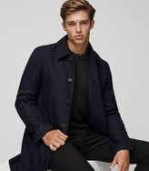 Reiss Arnold - Herringbone Mac in Blue, Mens