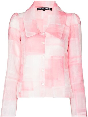Susan Fang Two-Tone Patchwork-Style Blazer