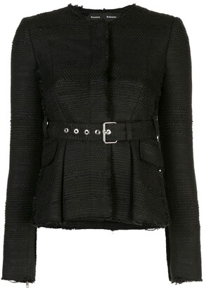 Proenza Schouler Tweed Belted Jacket