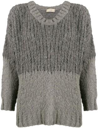 Maison Flaneur Two Tone Sweatshirt
