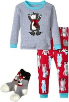 Petit Lem Winter Bears PJ Set (Toddler/Kid) - Multicolor - 6