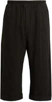 BY WALID Pierre cropped antique-linen trousers