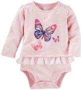 Osh Kosh Baby Girl Butterfly Eyelet Bodysuit