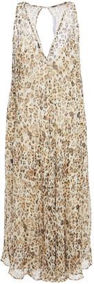 IRO Sky Leopard-print Silk-chiffon Dress