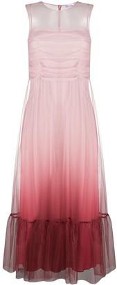 RED Valentino Peplum Hem Ombre Dress