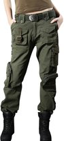 Chouyatou Women's Military Relaxed Fit Mulit-Pockets Camo Wild Cargo Pants
