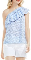 Vince Camuto Ikat Star Print One Shoulder Top