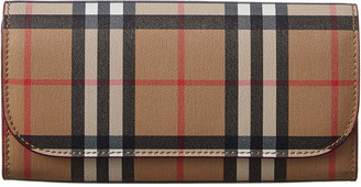 Burberry Vintage Check & Leather Continental Wallet