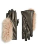 Echo Touchscreen Compatible Gloves with Genuine Fox Fur Trim