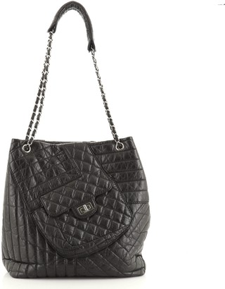 Chanel Karl's Fantasy Cabas Tote Quilted Leather Medium