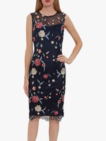 Gina Bacconi Ravinia Dress, Navy